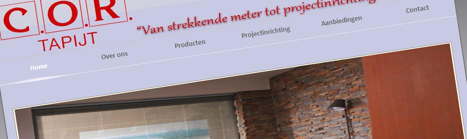 Website Cor Tapijt