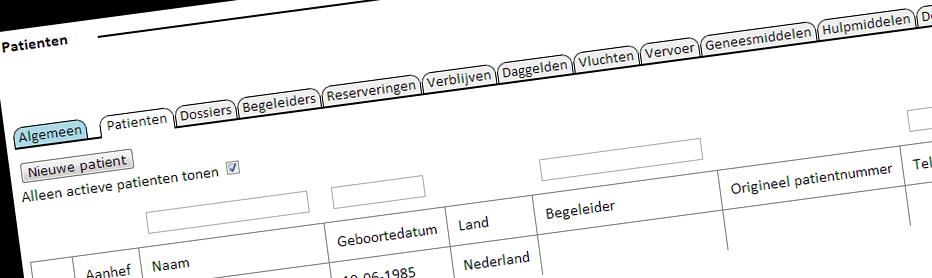 Webapplicatie Holland Intercare