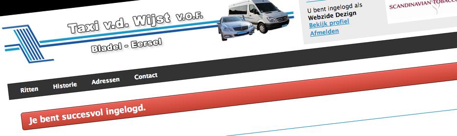 Rittensysteem Taxi van der Wijst