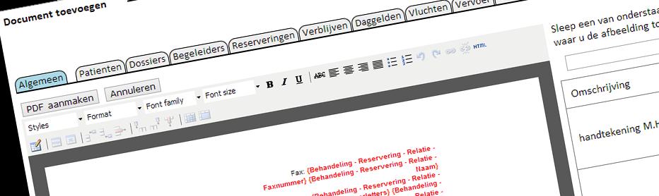PDF documenten kunnen maken van automatisch ingevulde templates