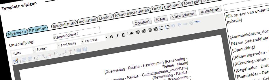 Gemakkelijk zelf templates van documenten kunnen maken
